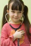 Divertimento con lo stetoscopio Fotografia Stock Libera da Diritti