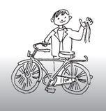 Divertimento da bicicleta ilustração royalty free