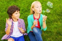 Divertimento da bolha Imagens de Stock