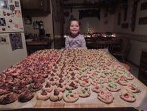Divertimento da cookie do Natal Imagens de Stock