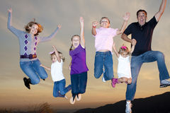 Divertimento da família Fotos de Stock