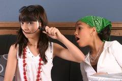 Divertimento da festa de anos das raparigas Fotografia de Stock Royalty Free