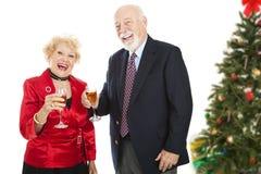Divertimento da festa de Natal Foto de Stock