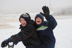 Divertimento da neve Fotografia de Stock