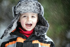 Divertimento da neve do inverno Fotos de Stock Royalty Free