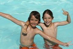 Divertimento da piscina Fotos de Stock Royalty Free