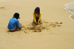 Divertimento da praia Fotografia de Stock Royalty Free