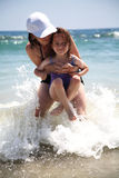Divertimento da praia Foto de Stock