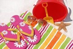 Divertimento da praia do verão Imagens de Stock