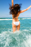 Divertimento da praia do verão imagem de stock royalty free