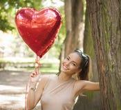 Divertimento dado forma coração fotografia de stock royalty free