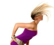 Divertimento de balanço do cabelo Imagens de Stock Royalty Free