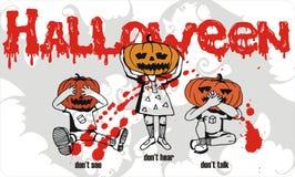 Divertimento de Halloween dos miúdos Imagens de Stock