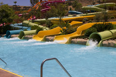 Divertimento de Waterpark no deserto Fotografia de Stock