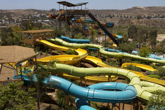 Divertimento de Waterpark no deserto Foto de Stock