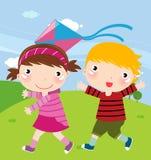 divertimento dei bambini che ha Immagine Stock