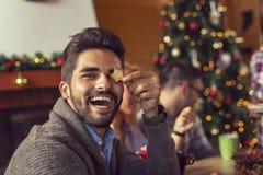 Divertimento dei biscotti di Natale del pan di zenzero immagini stock libere da diritti