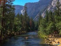 Divertimento del fiume di Merced Fotografie Stock Libere da Diritti