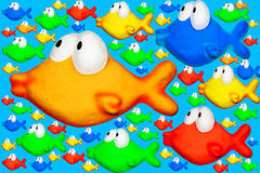 Divertimento del Goldfish Fotografie Stock Libere da Diritti