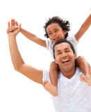 divertimento del padre che ha figlio Fotografie Stock Libere da Diritti