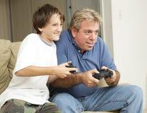 Divertimento del video gioco Fotografia Stock