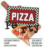 Divertimento dell'invito del partito della pizza Royalty Illustrazione gratis