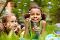 Divertimento della bolla Fotografia Stock Libera da Diritti