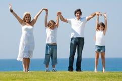 divertimento della famiglia all'aperto Fotografia Stock Libera da Diritti