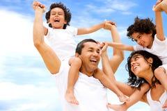 divertimento della famiglia che ha Fotografie Stock Libere da Diritti