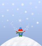 Divertimento della neve Immagini Stock