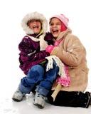 Divertimento della neve Fotografia Stock Libera da Diritti