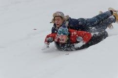 Divertimento della neve Fotografie Stock