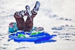 Divertimento della neve di natale Immagine Stock