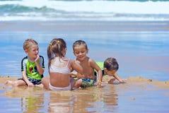 Divertimento della spiaggia Fotografia Stock Libera da Diritti