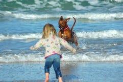 Divertimento della spiaggia Fotografie Stock