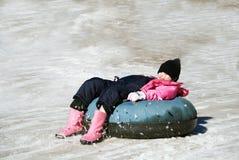 Divertimento della tubazione della neve Fotografie Stock