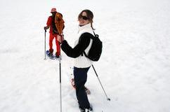 Divertimento dello Snowshoe Fotografia Stock