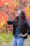 Divertimento di autunno Fotografia Stock