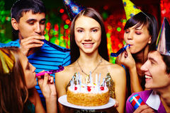 Divertimento di compleanno fotografia stock libera da diritti