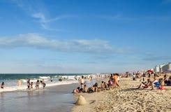 Divertimento di estate alla spiaggia! Immagine Stock