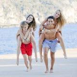 divertimento di estate di anni dell'adolescenza Immagini Stock Libere da Diritti