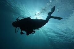 Divertimento di immersione con bombole Fotografie Stock Libere da Diritti