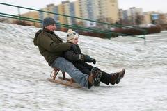 Divertimento di inverno Immagine Stock