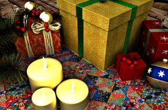 Divertimento di Mary Christmas immagine stock libera da diritti