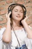Divertimento di musica della ragazza fotografia stock libera da diritti