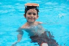 Divertimento di nuotata Fotografie Stock