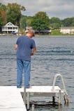 Divertimento di pesca Immagini Stock