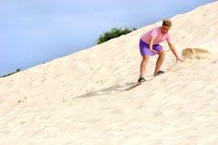 Divertimento di Sandboard fotografie stock libere da diritti