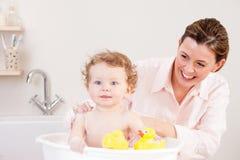 Divertimento di tempo del bagno Fotografia Stock