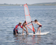 Divertimento di windsurf Immagine Stock